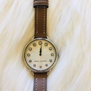 Marc Jacobs Betty Crystal Watch Genuine Leather